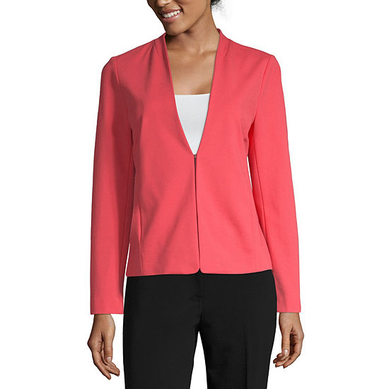 Liz Claiborne Secret Garden Womens Classic Fit Knit Blazer