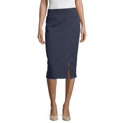 Worthington Ponte Knit Pencil Skirt