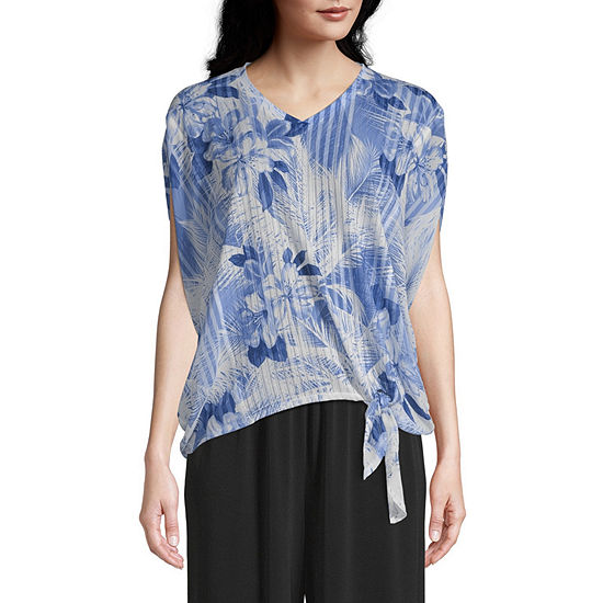 east 5th Womens Scoop Neck Short Sleeve Blouse