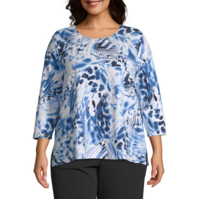 Alfred Dunner Abstract Tee - Plus