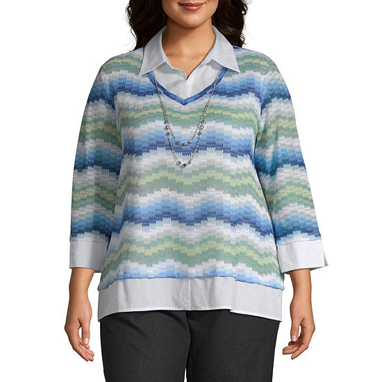058f3861515 Alfred Dunner Greenwich Hills Chevron Blouse - Plus - JCPenney