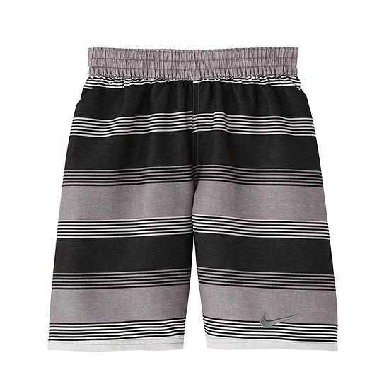 Nike Boys Striped Swim Trunks-Big Kid