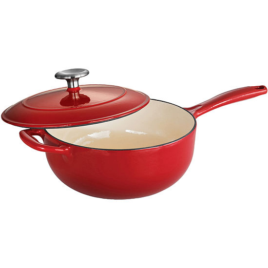 Tramontina Gourmet 3 Qt Enameled Cast Iron Covered Saucier