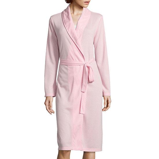 Adonna® Pointelle Shawl Collar Wrap Robe