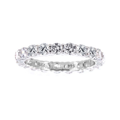 DiamonArt® Cubic Zirconia Sterling Silver Eternity Band