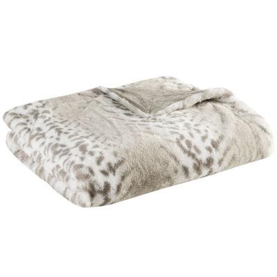 Madison Park Geneva Luxury Faux-Fur Throw