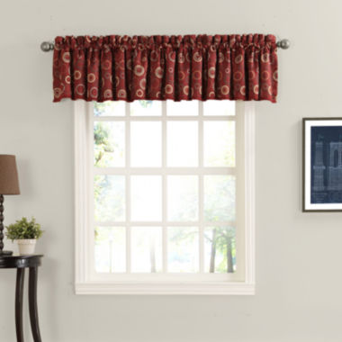 Sun Zero Melanie Room-Darkening Rod-Pocket Valance
