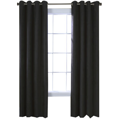 Navar Faux-Suede Blackout Grommet-Top Window Panel