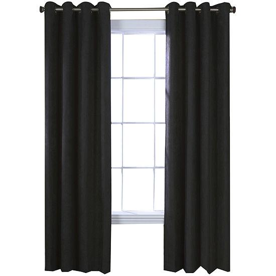 Navar Faux Suede Blackout Grommet Top Window Panel