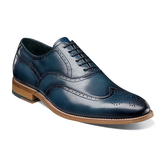 Stacy Adams Mens Dunbar Oxford Shoes Wing Tip