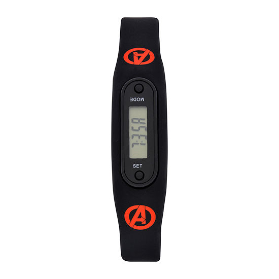 Avengers Boys Pedometer Tracker Strap Watch-Avg4513jc