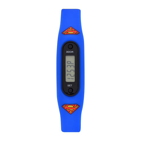 Superman Boys Pedometer Tracker Strap Watch-Sup4276jc