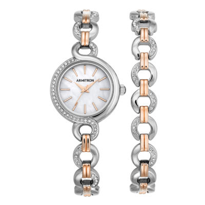 Armitron Now Womens Two Tone 2-pc. Watch Boxed Set-75/5485mptrst
