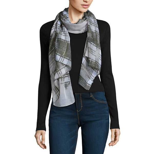 V. Fraas Oblong Plaid Scarf