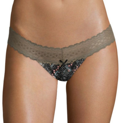 Xoxo 3-pc. Knit Thong Panty