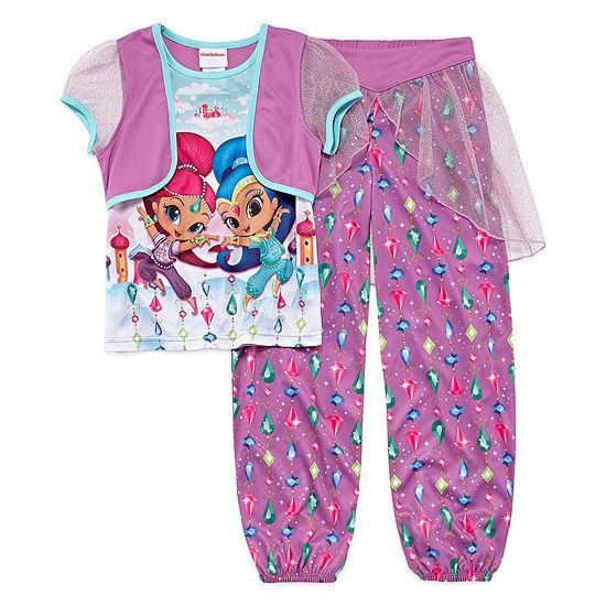 Nickelodeon Girls 2-pc. Pant Pajama Set Preschool