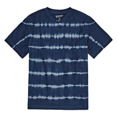 Arizona Short Sleeve V Neck T-Shirt-Big Kid Boys