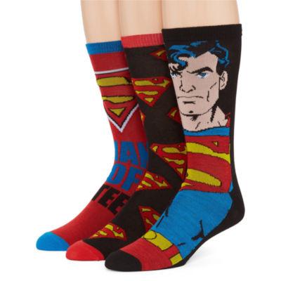 DC Comics® Superman 3-pk. Crew Socks
