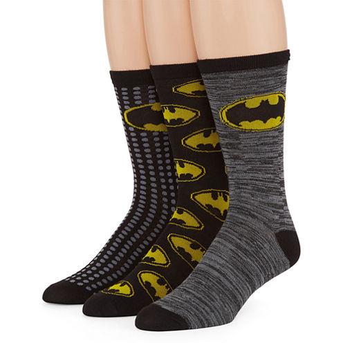 DC Comics® Batman 3-pk. Crew Socks