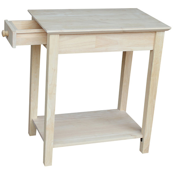 Narrow 1-Drawer End Table