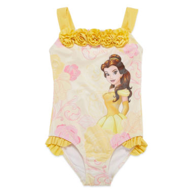 Disney Beauty and the Beast One Piece Swimsuit Toddler Girls