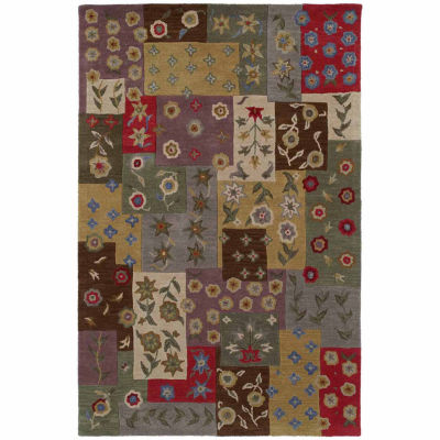 Kaleen Khazana Patchwork Hand-Tufted Wool Rectangular Rug