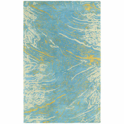 Kaleen Brushstrokes Abstract Hand-Tufted Wool Rectangular Rug