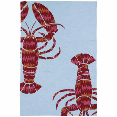 Kaleen Matira Lobster Indoor/Outdoor Rectangular Rugs