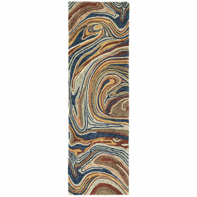 Kaleen Marble Abstract Mid-Century Hand-Tufted Wool Rectangular Rug