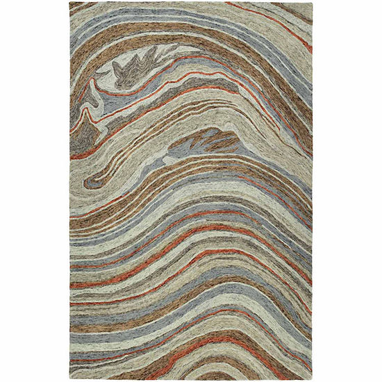 Kaleen Marble Michelle Hand-Tufted Wool Rectangular Rug