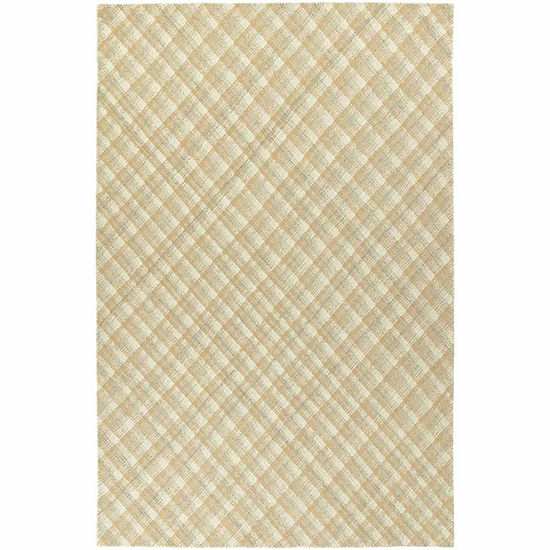Kaleen Sartorial Plaid Hand-Tufted Wool Rectangular Rug