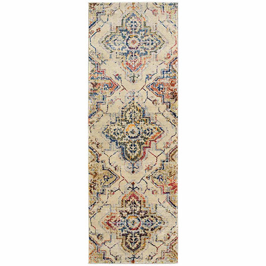 Kaleen Tiziano Vintage Damask Rectangular Rug