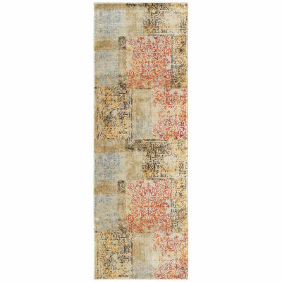 Kaleen Tiziano Vintaged Patchwork Kashan Rectangular Rug