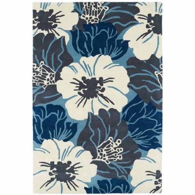 Kaleen Melange Floral Rectangular Rug