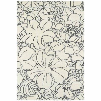 Kaleen Melange Floral Stencil Rectangular Rug