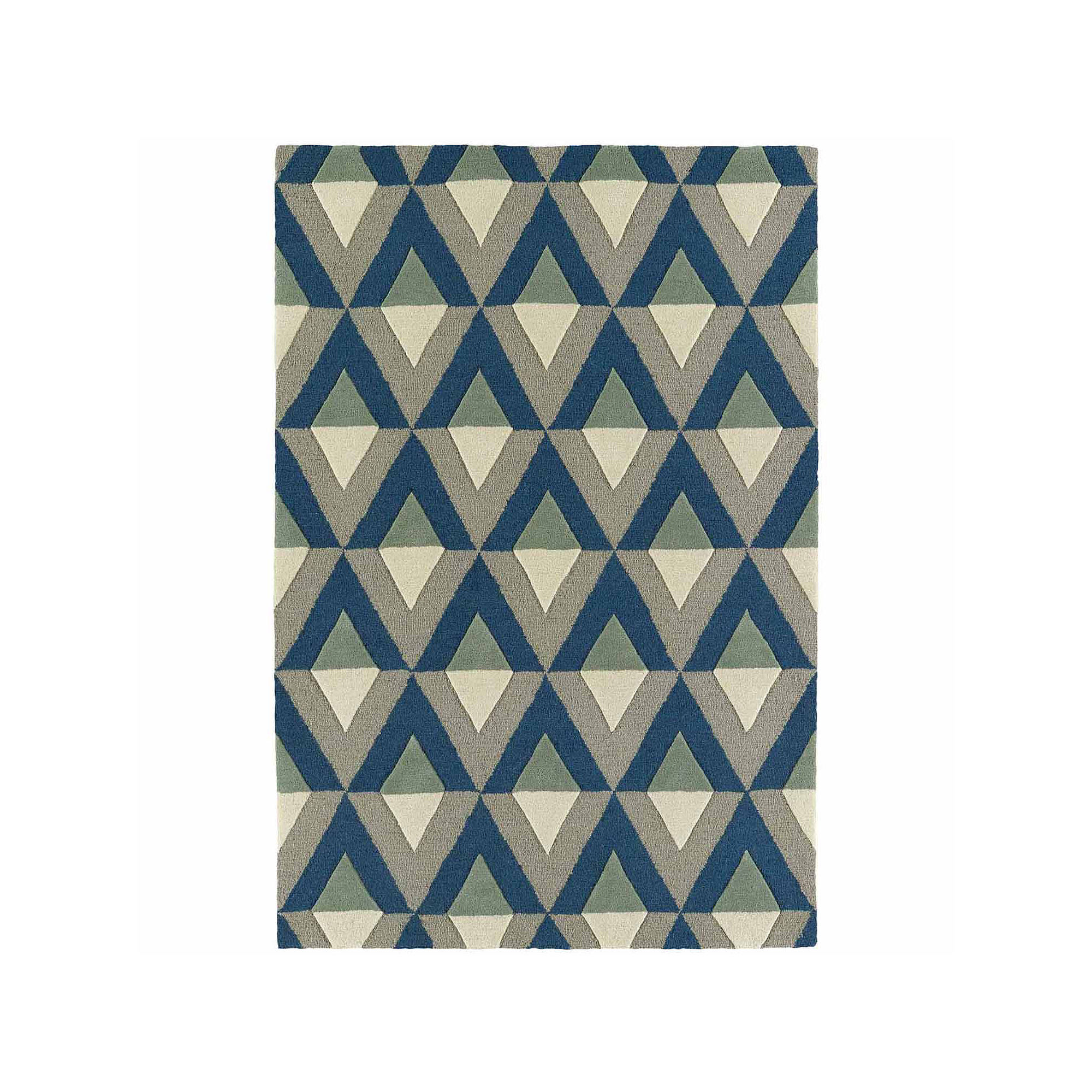Kaleences Mid-Century Diamonds Rectangular Rug