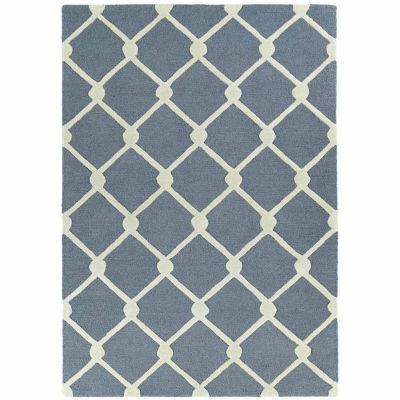 Kaleences Trellis Rectangular Rug