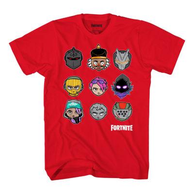 Boys Crew Neck Short Sleeve Fortnite Graphic T-Shirt Preschool / Big Kid
