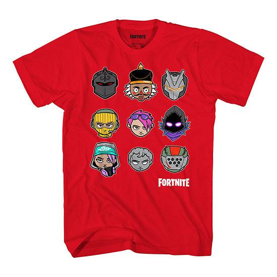 Boys Crew Neck Short Sleeve Fortnite Graphic T-Shirt - Preschool / Big Kid