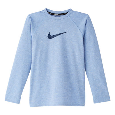 Nike Boys Logo Rash Guard-Big Kid