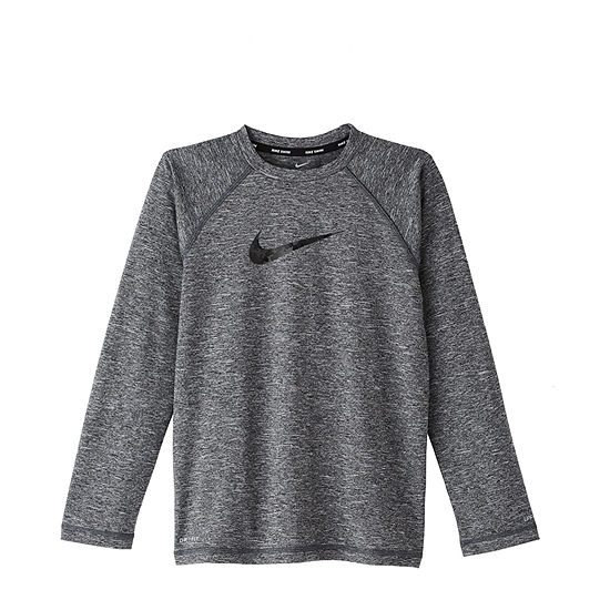 Nike Boys Logo Rash Guard - Big Kid