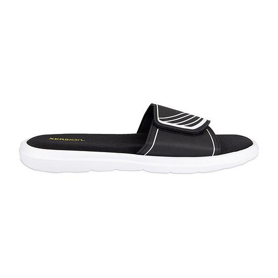 Xersion™ Velcro Strap Memory Foam Slide Sandals
