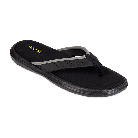 Xersion™ Memory Foam Perforated Strap Flip Flops