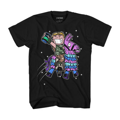 Fornite Mens Crew Neck Short Sleeve Graphic T-Shirt-Big and Tall