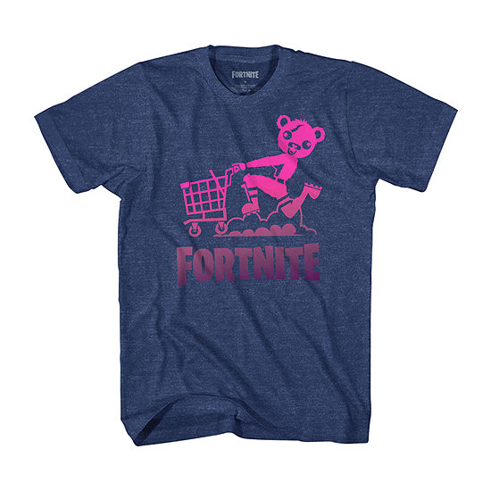 Fortnite Mens Crew Neck Short Sleeve Graphic T-Shirt-Big and Tall