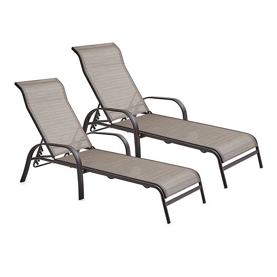 Cool Outdoor Oasis Melbourne Set Of 2 Sling Stacking Patio Lounge Chair Spiritservingveterans Wood Chair Design Ideas Spiritservingveteransorg