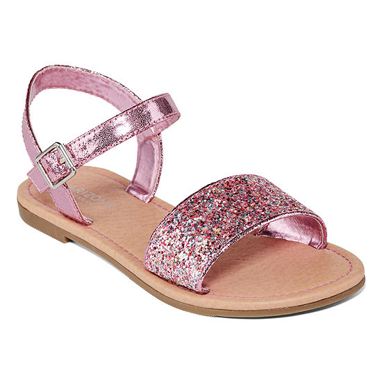 Arizona Little/Big Kid Girls Riley Ankle Strap Flat Sandals
