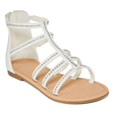 Arizona Little/Big Kid Girls Malt Ankle Strap Gladiator Sandals