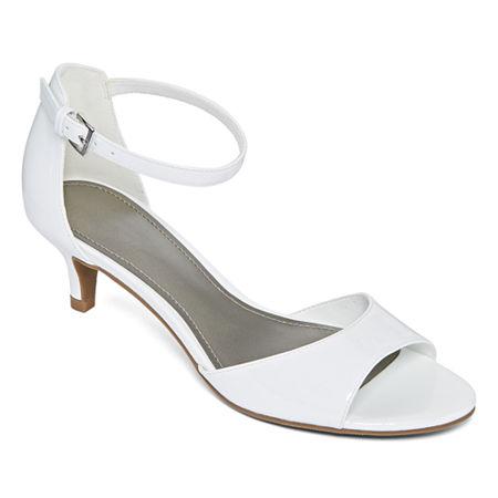 1950s Style Shoes | Heels, Flats, Boots Worthington Womens Garnet Pumps Kitten Heel 7 12 Medium White $22.49 AT vintagedancer.com