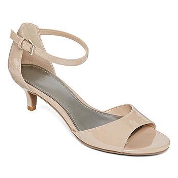 Open Toe Kitten Heel Shoes